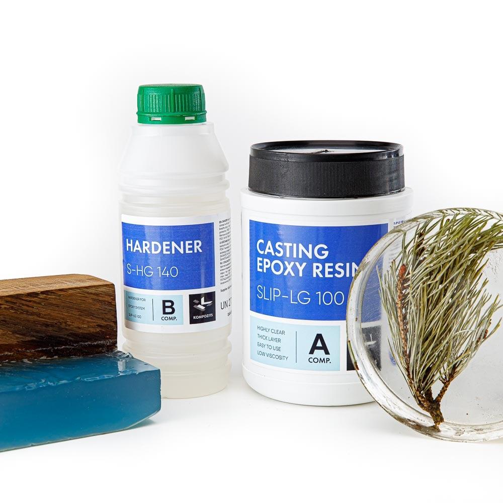 Transparent epoxy resin for casting, kit of 1.4 kg