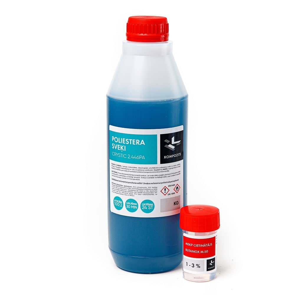 Polyester resin with hardener 2.446PA, 1 kg