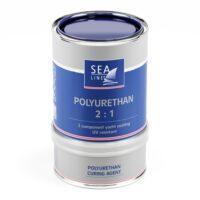 Zila poliuretāna krāsa Sea-Line, 750 ml